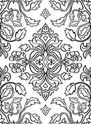 Floral sketch for carpet. - stock illustration