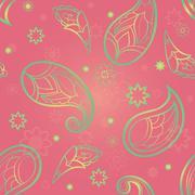 Pink ornament of stylized paisley. Stock Illustration