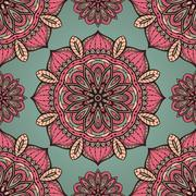 Filigree pink and grey pattern. - stock illustration