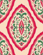Pink floral ornament. - stock illustration