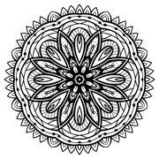 Oriental filigree mandala. Stock Illustration