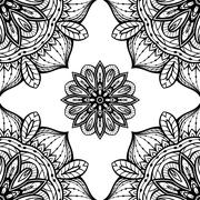 Filigree black and white pattern. Stock Illustration