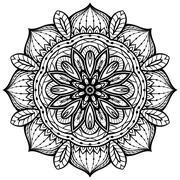 Eastern filigree mandala. Stock Illustration