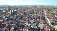 View from New Church Carillon, Delft, Netherlands, 4K  Stock Footage