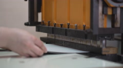Printing house machines and people are working. 4K Stock Footage