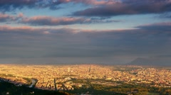 Aerial view of turin city skyline at sunrise Stock Footage
