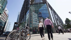 Time lapse of Headquarters of the Royal Bank of Scotland, London Stock Footage