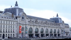 Musee d'orsay in Paris Stock Footage