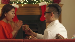 Little Christmas Surprise - stock footage