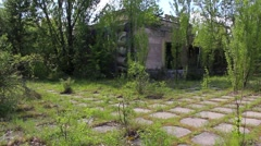 Pripyat, Cinema Prometheus, aerial view. Stock Footage