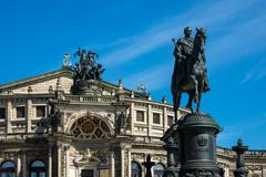 Historical building in Dresden - stock photo
