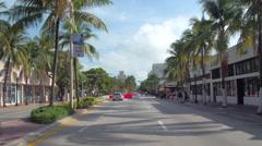 Pedestrians at Ciclovia Miami Beach Stock Footage