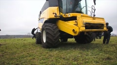 New Holland combine at field Stock Footage