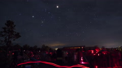 Astronomers and visitors at the Grand Canyon Star Party - stock footage