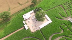 Maize Maze Aerial View - stock footage
