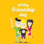 Happy friendship day vector background - stock illustration