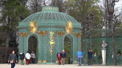 Potsdam, Luxurious trellised gazebo (bower), nearby Sanssouci palace, Germany Stock Footage
