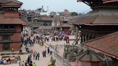 Patan Durbar Square in Nepal Stock Footage