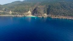 Kaputas Beach Aerial View Stock Footage