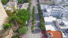 Aerial stock footage of Ciclovia Miami Beach Stock Footage