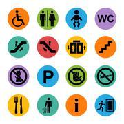 Public icon basic Stock Illustration