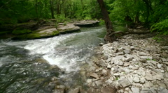 Aerial of Boone Creek in Kentucky Stock Footage