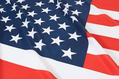 Studio shot of ruffled national flags series - United States Stock Photos