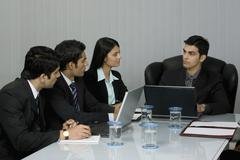 In a meeting Stock Photos