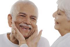 Old man smiling Stock Photos