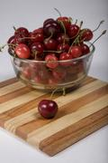 Cherries in a bowl Stock Photos