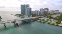 Aerial video Bal Harbour rising Stock Footage