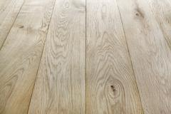 Unpainted oak wood texture and background - stock photo