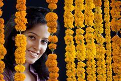Portrait of an Indian woman Stock Photos