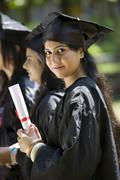 College students at graduation ceremony Stock Photos