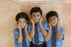 School children being punished Stock Photos