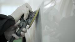 Mechanic opens car hood Stock Footage