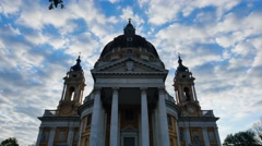 Basilica of superga tilt down turin italy Stock Footage