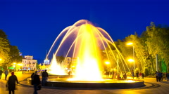 The dancing fountains in Batumi Stock Footage