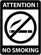 No smoking, cigarette prohibited symbol. Vector. Stock Illustration