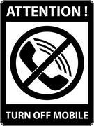 No phone, telephone prohibited symbol. Vector. - stock illustration