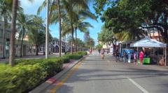 Washington Avenue Miami Beach Ciclovia Stock Footage