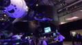 Space center indoor event impression ILA Berlin with blue illumination Footage