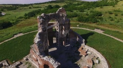 Ancient Church in Bulgaria Aerial Stock Footage