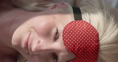 Woman Wakes Up In The Morning - stock footage