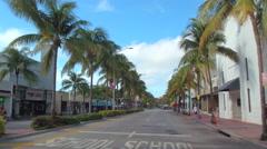 Ciclovia South Beach Washington Avenue Stock Footage