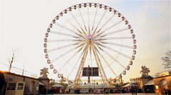 Graphical view of observation wheel in Paris Stock Footage
