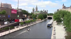 Rideau Canal in Ottawa Stock Footage
