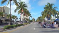 Ciclovia public biking event Miami Beach Stock Footage