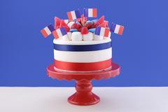 Happy Bastille Day celebration cake - stock photo