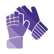 Soccer goalkeeper gloves icon Stock Illustration